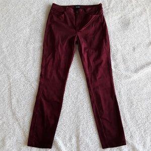 Paige   Hoxton Ultra Skinny Oxblood Corduroy Pants